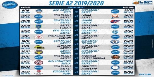 Serie A2 Basket Calendario.Basket Gevi Napoli Diramato Il Calendario Della Serie A2